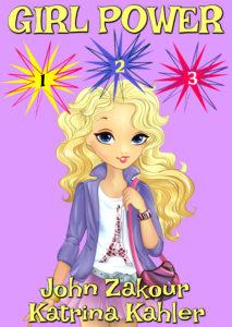 Vector illustration of beautiful fashion blonde girl goes shopping